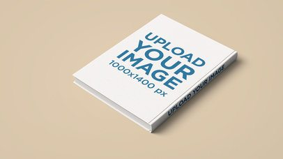 Mockup of the Back Cover of a Book on a Plain Color Surface 2428-el1