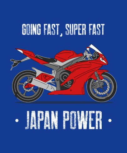 T-Shirt Design Template for Motorcycle Enthusiasts With Cool Illustrations 2406d