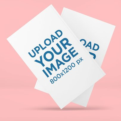 Mockup Featuring the Front and Back of a Paperback Book Against a Plain Background 3442-el1
