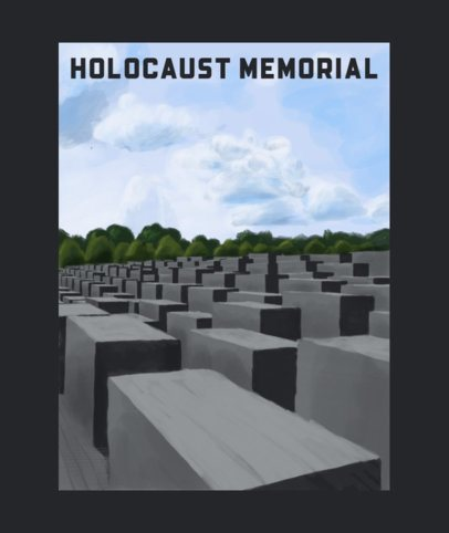 Tote Bag Design Creator with an Illustration of the Holocaust Memorial 2400h