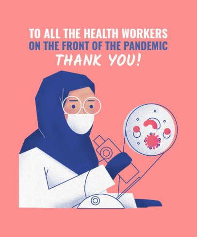 T-Shirt Design Maker Honoring Health Workers 2397c