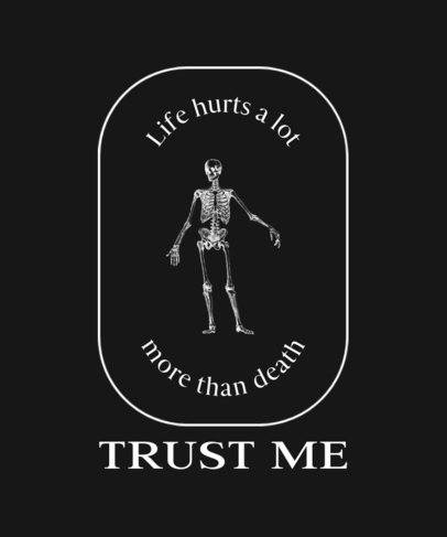 Sarcastic T-Shirt Design Template With a Skeleton Graphic 724d-el1