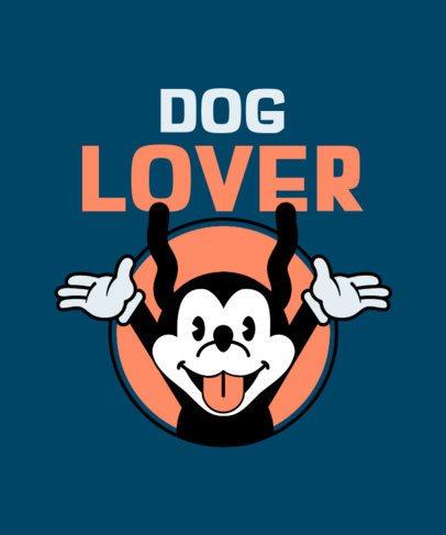 Retro T-Shirt Design Creator with a Screaming Dog Cartoon 2399d
