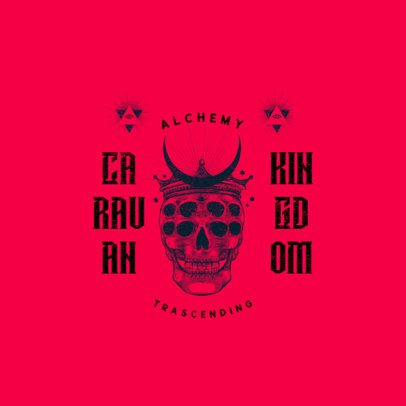 Streetwear Logo Maker Featuring a Trippy Skull Graphic 3089c