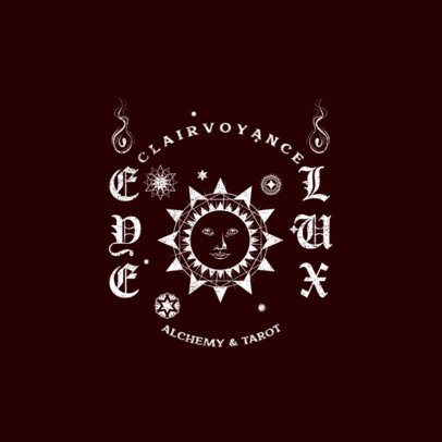 Clothing Brand Logo Maker Featuring a Clairvoyance Sun Graphic 3089f