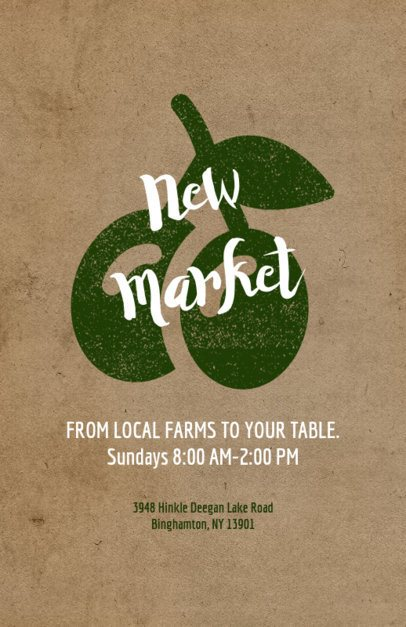 Food Market Online Flyer Maker 183b