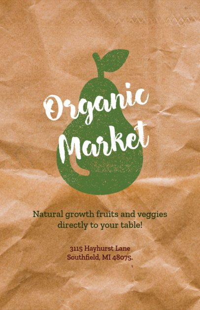 Organic Groceries Flyer Maker 183e