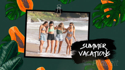 Summer-Themed Slideshow Video Maker Featuring a Tropical Animated Background 1655