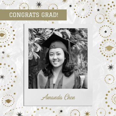Instagram Post Maker with an Instant Photo of a Graduate Woman 2431e