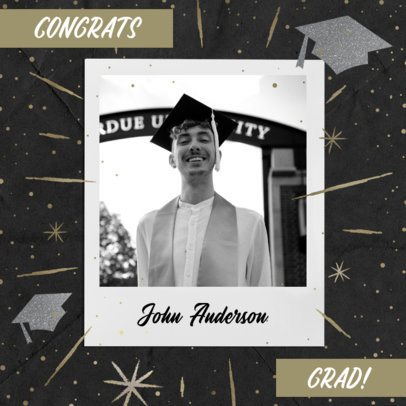Graduation Day Instagram Post Maker with a Sparkly Background 2431f