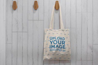 Mockup of a Hanging Tote Bag 3140-el1