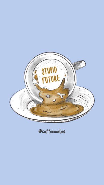 Instagram Story Creator Featuring a Fortune Teller Mug 781g