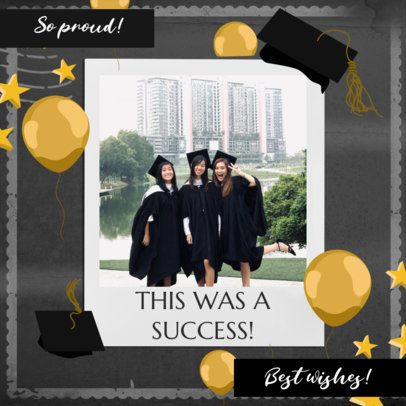 Instagram Post Template with Graduation Day Graphics 2431a