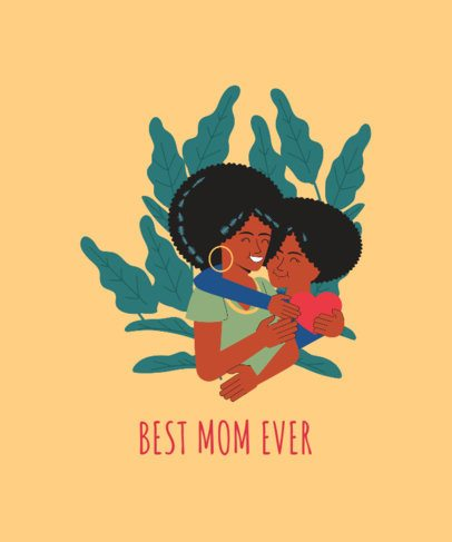 Quote T-Shirt Design Template for the Best Mom Ever 2427d