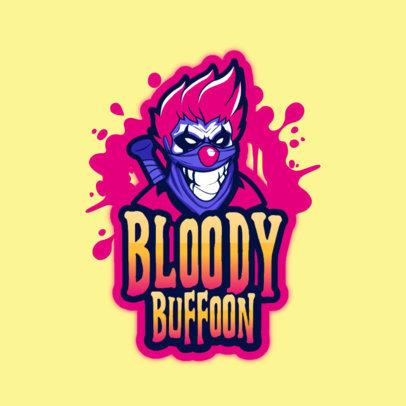 Gaming Logo Maker Featuring an Evil Buffoon Illustration 3128i