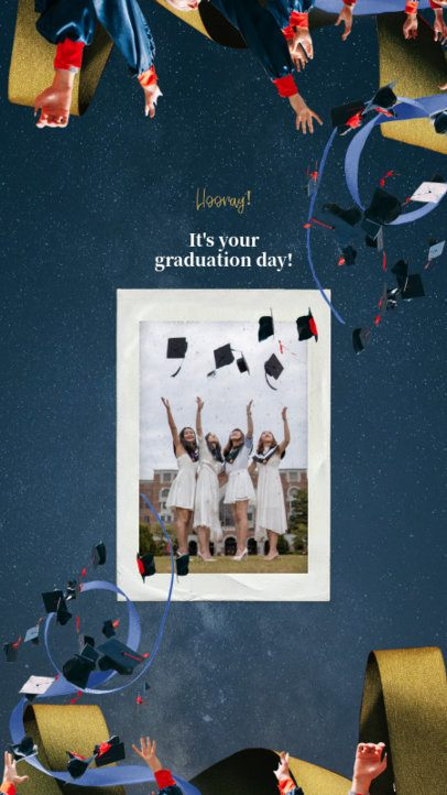 Graduation Day Instagram Story Template with Celebrating Student Graphics 2430k