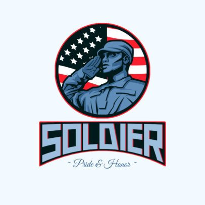 Logo Creator Featuring a Proud Soldier Graphic 3122e