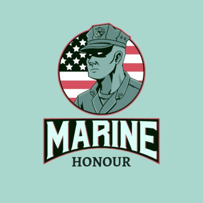 Logo Creator Featuring a Fierce American Marine 3122f