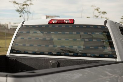 Rear Window Decal of a Pick-Up Truck 33245
