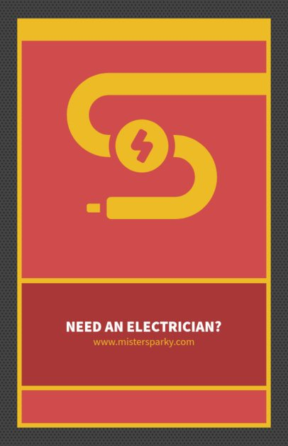 Minimalist Flyer Maker for Electricians 725b