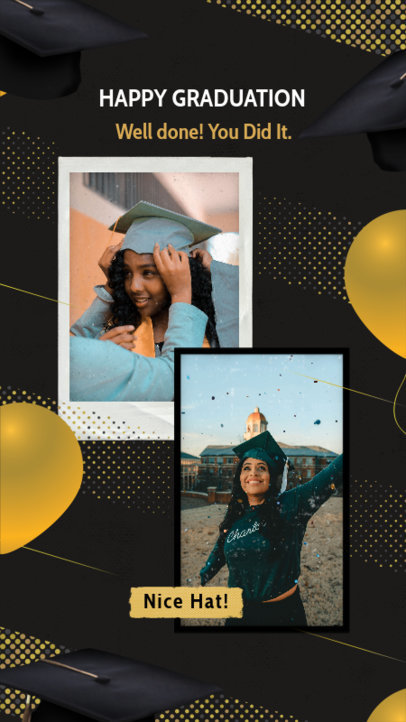 Instagram Story Design Creator for a Graduation-Themed Post 2430z