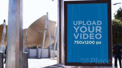 Video of a Mupi at a Bus Stop 32963