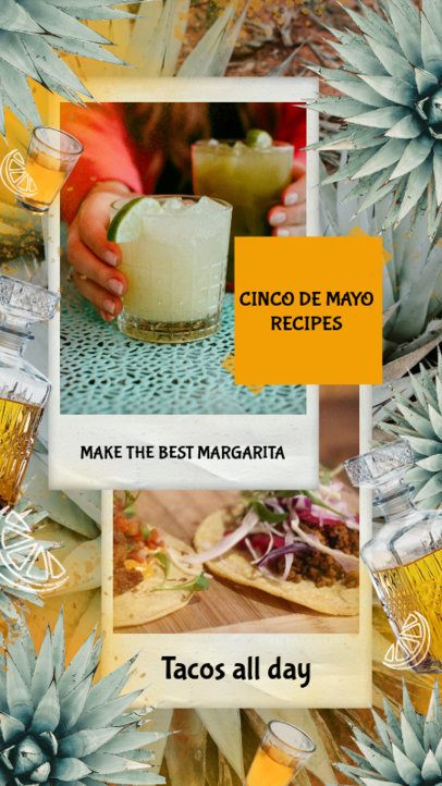 Folkloric Instagram Story Design Template to Share Recipes for 5 de Mayo 2436f