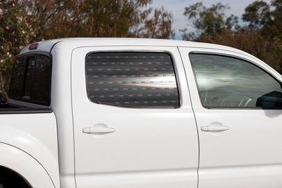 Mockup of a Window Decal Placed on a Pickup Truck 33236
