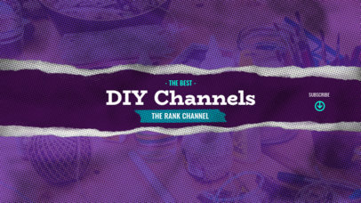 DIY YouTube Banner Template with an Analogue Texture 2444d