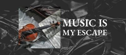 Facebook Cover Design Maker for Musicians Featuring a Cellophane Texture 2443c