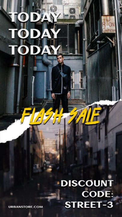 Instagram Story Template for a Flash Sale Announcement 817c-el1