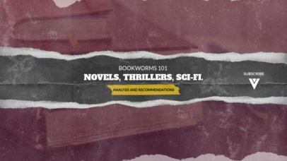 Analogue YouTube Banner Template for Book-Related Channels 2444j