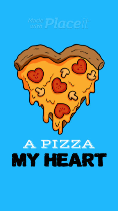 Fun Instagram Story Video Maker with an Animated Pizza Heart 1714
