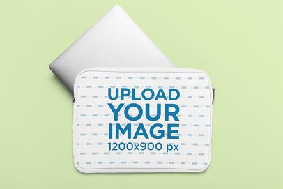 Laptop Sleeve Mockup Featuring a Customizable Background 33399