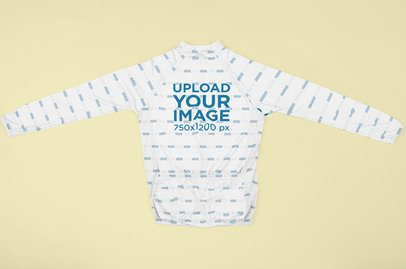 Cycling Jersey Mockup Featuring a Customizable Background 33409
