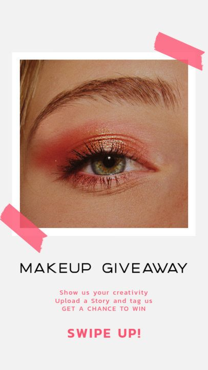 Minimal Makeup-Themed Instagram Story Template for an Online Giveaway 929b-el1
