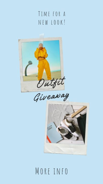 Clothing Brand Instagram Story Creator for an Outfit Giveaway 919c-el1