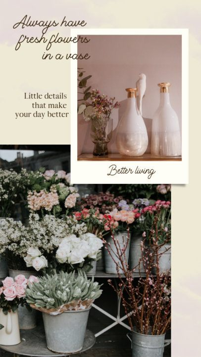 Instagram Story Template for Decoration Tips with a Vintage Style 927c-el1
