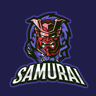 Gaming Logo Template Featuring a Samurai With a Dragon 887a-el1