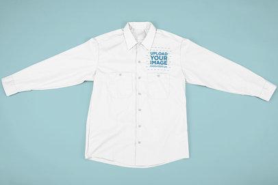 Flat Lay Mockup of a Button-Up Shirt 33410