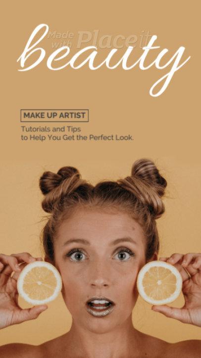 Minimal Instagram Story Video Maker for Makeup Artists 1128-el1