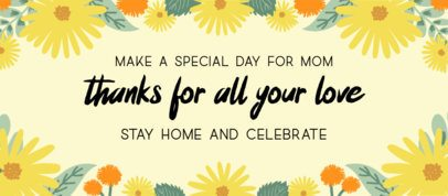 Facebook Cover Maker for a Mother's Day Celebration at Home 2453e
