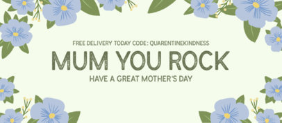 Facebook Cover Template for Mother's Day Featuring Cool Botanical Illustrations 2453j