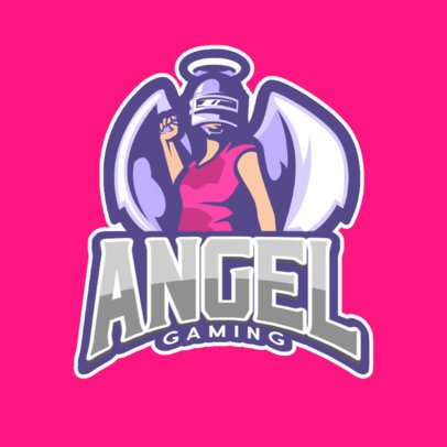Gaming Logo Maker Featuring a Female Angel Character 889d-el1