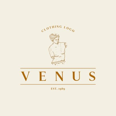 Clothing Brand Logo Creator with a Venus Statue Graphic 3173e