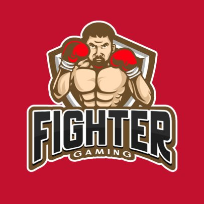 Logo Generator Featuring a Boxing Player in Defensive Stance 865d-el1