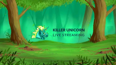 YouTube Banner Creator Featuring a Unicorn Graphic 2447b