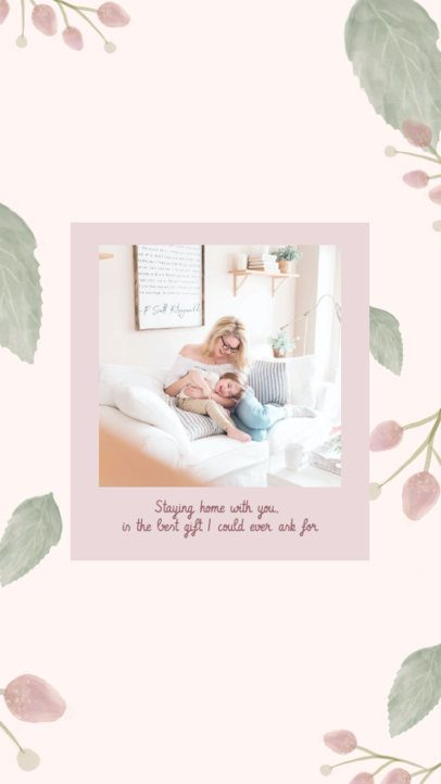 Instagram Story Creator with a Minimalistic Design for Mother's Day 2451h