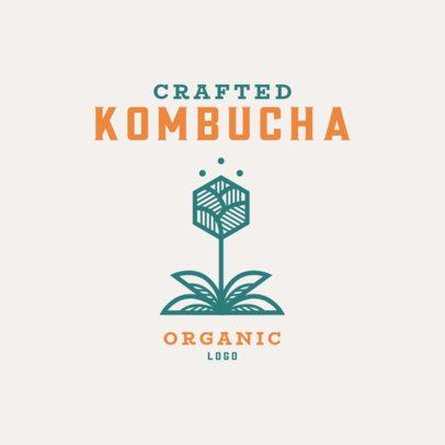 Organic Logo Maker for a Crafted Kombucha Brand 3171c