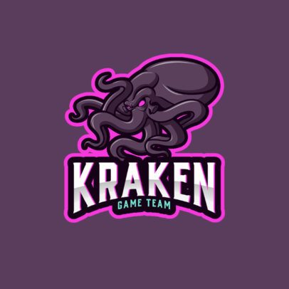 Gaming Team Logo Template Featuring an Angry Kraken 1021f-el1